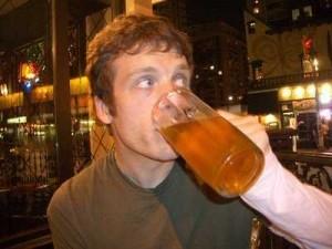 Tyler Cox Drinking Beer