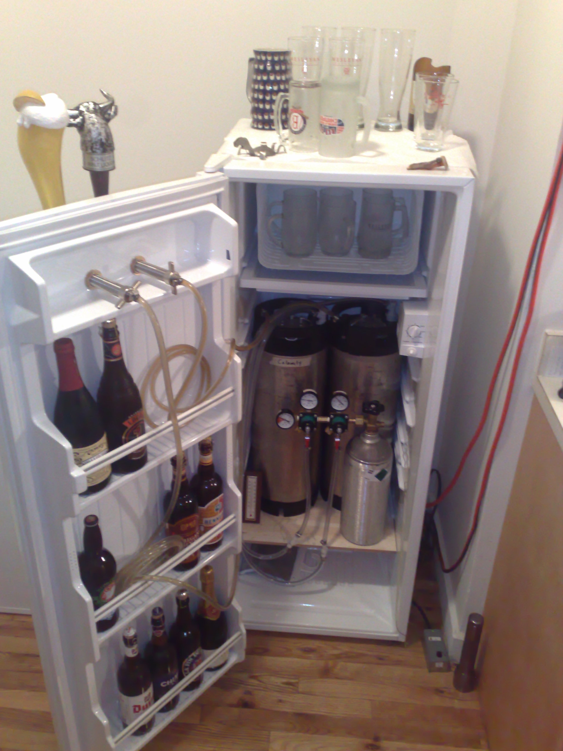 How to make a kegerator best kegerator guide Home bar furniture with kegerator